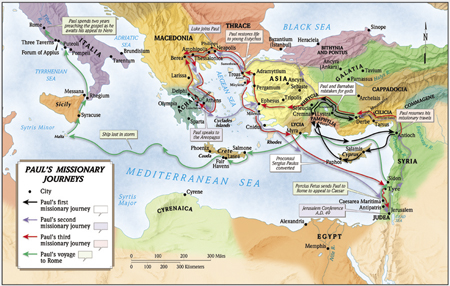 Paul's Missionary Journey's Map